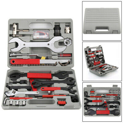 Bicycle Repair Tool Kit 44PCS MTB Bike Crank Chain Complete Maintenance Wrench A • 25.39£
