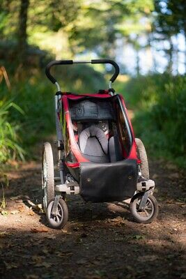 Chariot Thule Cougar 1 Child Bike Trailer, Maxxis Tyre, Red/grey • 327£