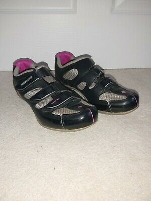 Specialized Womens Cycling Shoes / Size 5 / Black & Pink / Good Condition  • 29.99£