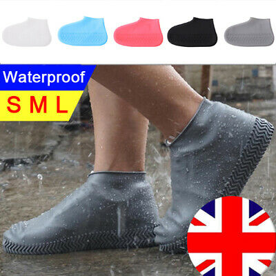 Recyclable Silicone Overshoes Rain Waterproof Shoe Covers Boot Cover Protector • 5.42£