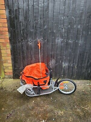 One Wheel Mono Tow Bike Bicycle  Cycle Trailer Towing Load Bag Flag Etc Grimsby  • 59£