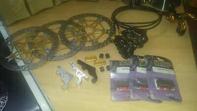 Hope Mono 6-Ti Disc Brakes,Lots Of Extras,TI Bolts,Spare Pads,Goodridge Hoses. • 550£