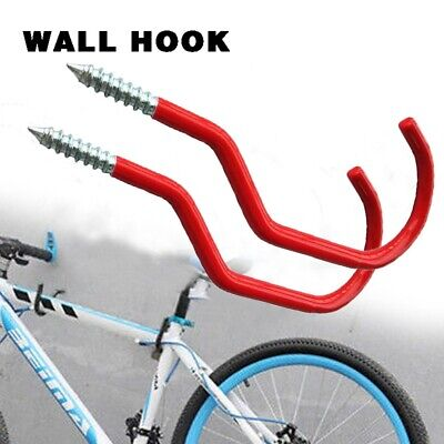 New Bike Bicycle Wall Mounted BIKE Hanging HOOKS 6  LARGE PVC Coated UK Seller • 6.39£