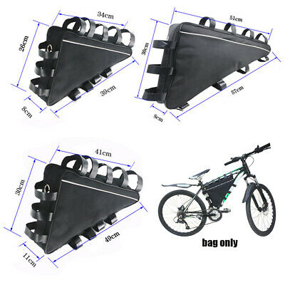 MTB Triangle Bag Electric Mountain Bike Li-Ion Battery Case Bicycle Frame S M L • 17.99£