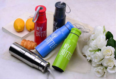 Thermos Stainless Steel Water Bottle Sport Thermoflasche Bike 520 ML • 9.99£