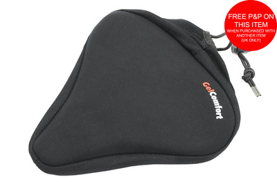 BIG BUM GEL EXTRA WIDE BIKE CYCLE SEAT SADDLE COVER UNISEX COMFORT SOFT 25x24cm • 5.99£
