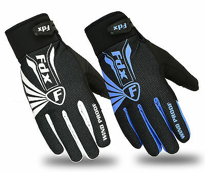FDX Cycling Gloves Winter Cold Weather Windproof Full Finger Touch Screen Gloves • 10.99£