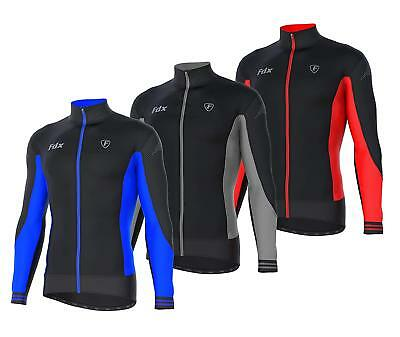 FDX Mens Thermodream Cycling Jersey Full Sleeve Thermal Roubaix Cycling Jacket • 24.50£