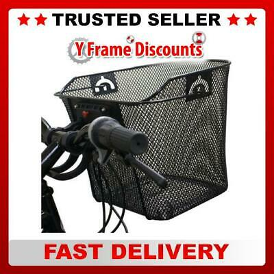 Black Widow Quick Release Basket Designed For Front Of Bicycle / Bike In Black • 11.48£