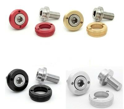 Self Extracting Square Taper Crank Bolts (Pack Of 2) Red / Gold / Black / Silver • 9.99£