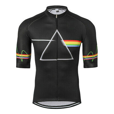 Men's Short Sleeve Cycling Jersey Tops Coolmax Bike Cycle Jersey Shirt Black • 13.99£