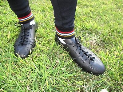 Leather Cycling Shoes Vintage Classic Eroica Retro Style Black UK5-14 • 79.99£