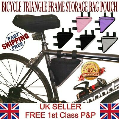 LTG Bike Bag Bicycle Cycle Front Tube Triangle Frame Storage Pack Pouch Purse • 3.49£