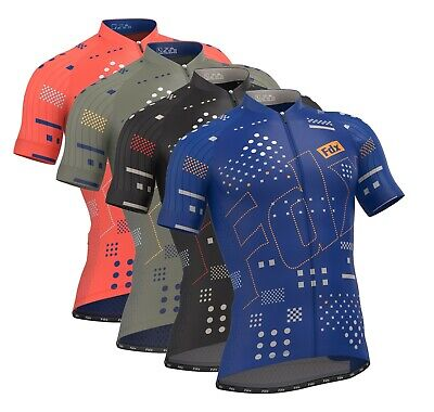 FDX Mens ALL DAY Cycling Jersey Breathable Half Sleeve Racing Team Biking Top • 22.99£