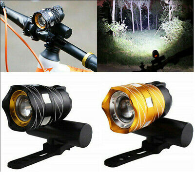 LED Flashlight Front Head Light Bright Rechargeable Waterproof For Mountain Bike • 9.79£