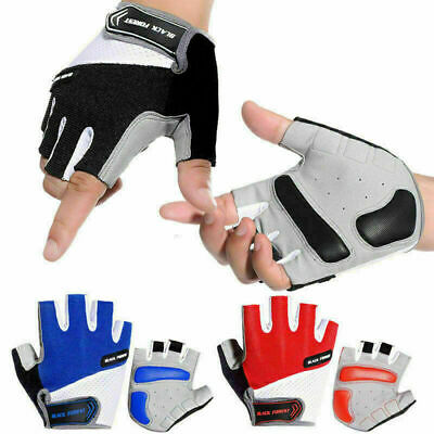 Cycle Bicycle Half Finger Padded Gloves Road Mountain Bike MTB Riding Fingerless • 5.55£