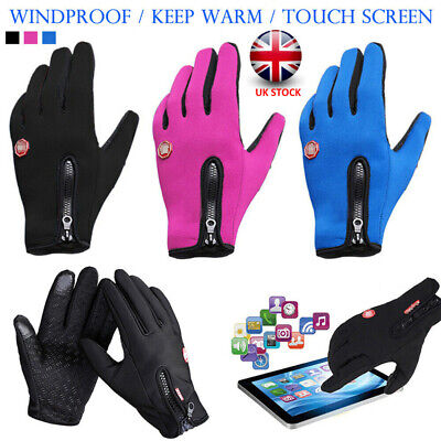 Windproof Winter Warm Cycling Gloves Touch Screen Bike MTB BMX Bicycle Mittens • 7.69£
