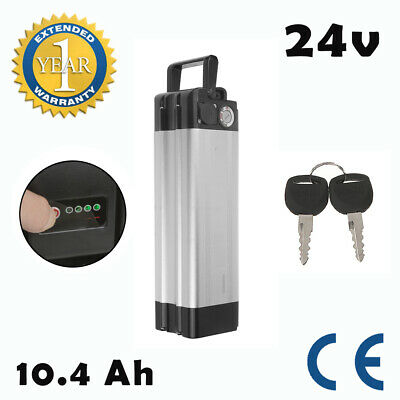 24V 10.4Ah Li-ion Lithium E-Bike Battery Kit For ALL Electric Bicycle UK Stock • 89.99£