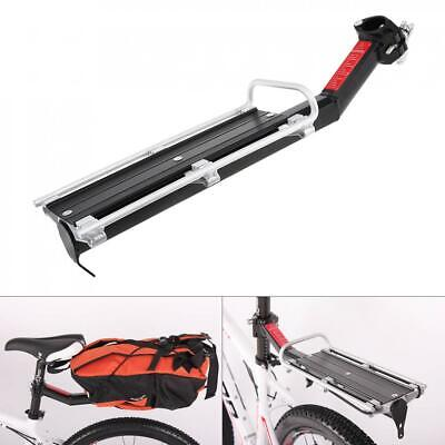 Aluminum Bike Bicycle Cycling Rear Rack Seatpost Pannier Luggage Carrier Shelf • 15.29£