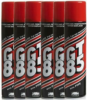 6x GT85 Aerosol Cans PTFE Chain Lubricant GT 85 Water Displacer GT85 400ml • 18.99£