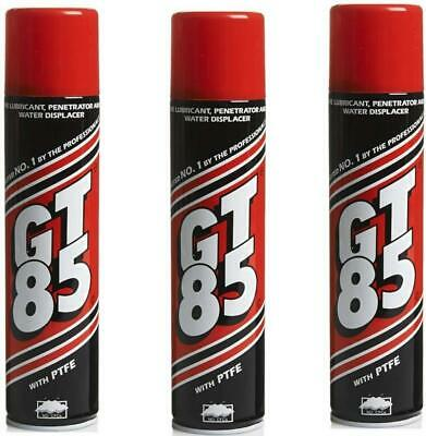 3x GT85 Aerosol Cans PTFE Chain Lubricant GT 85 Water Displacer GT85 400ml • 10.99£