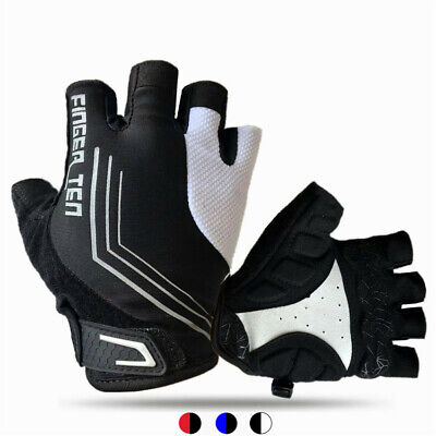 Mountain Bike Gloves Fingerless Mens Women Motor Winter Sports Anti Grip Pair UK • 7.36£