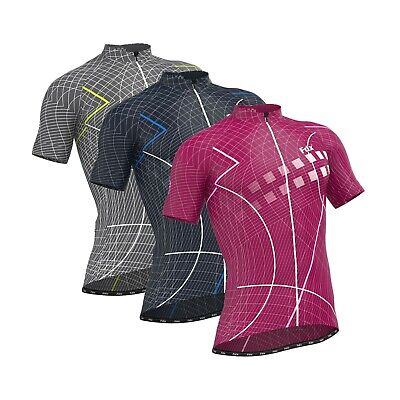 FDX Classic II Lightweight Race Fit Cycling Jersey - Breathable Half Sleeve Top • 18.99£