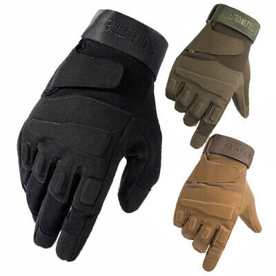 Tactical Cycling Full Finger Gloves MTB Bike Bicycle Driving Racing Sports Mitts • 7.99£