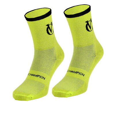 VC Cycling Core Cotton Ankle Socks Pack Of 3 Black, White, Blue, Red, Yellow • 6.95£