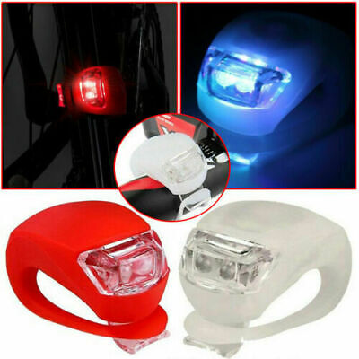 2 LED's Silicon Mountain Bike Bicycle Front Rear Light Set Cycle Light Push Clip • 5.79£