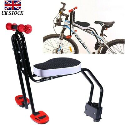 Safety Child Baby Kids Bike Bicycle Seat Front Carrier With Handrail Armrest NEW • 33.99£