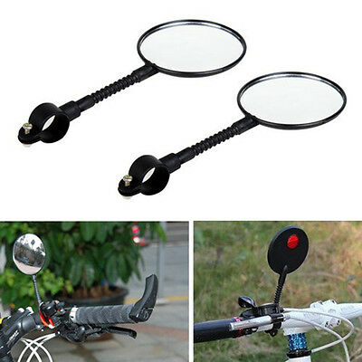1X Cycling Bike Bicycle Handlebar Flexible Rear View Rearview Mirror Safety~jp • 5.04£