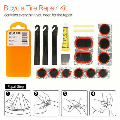 Bicycle Tyre Puncture Repair Kit Bike Cycle Patches Patch Mountain Rubber Tool • 5.69£