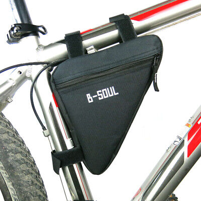Waterproof MTB Road Bike Cycling Triangle Front Tube Frame Bag Cell Phone Pouch • 6.89£