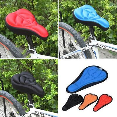 Sports Comfortable Silicone Saddle Cover  Gel Cushion Bike Seat Pad Cycling~ • 5.99£