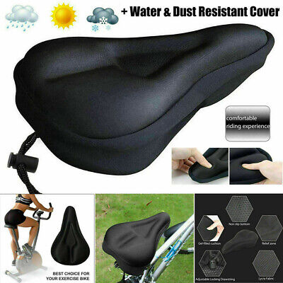 Bike EXTRA Comfort Soft Gel Pad Comfy Cushion Saddle Seat Cover Bicycle Cycling • 3.99£