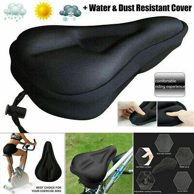 Bike EXTRA Comfort Soft Gel Pad Comfy Cushion Saddle Seat Cover Bicycle Cycling • 4.99£