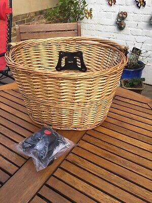 Large Wicker Bike/Bicycle Basket Quick Release • 17.99£
