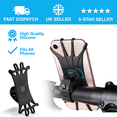 Bicycle Bike Phone Holder Mountain Road Bike Handlebar Mount Bracket Silica Gel • 6.99£