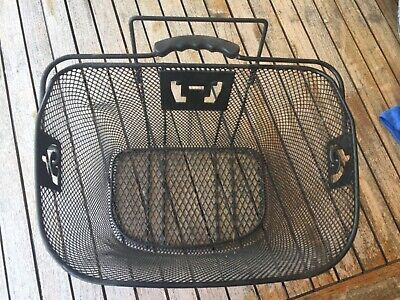 Bike/bicycle Metal Mesh Basket Shopping With Carry Handle  • 7.40£