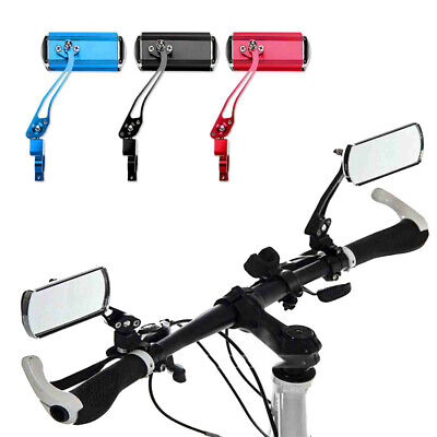 1 Pair Bicycle Bike Cycling Handlebar Rear View Rearview Mirror Rectangle Back# • 14.99£