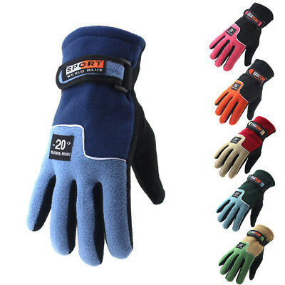 Winter Thermal Warm Fleece Lined Gloves MTB Road Motor Bike Cycle Bicycle Riding • 2.98£