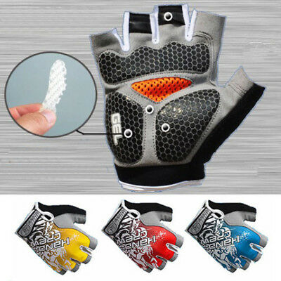 Road MTB Bicycle Cycling Half Finger Gloves GEL Padded BMX Bike Ride Fingerless • 4.55£