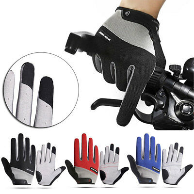 Road Mountain Bike Bicycle Cycling Full Finger Gloves BMX MTB Riding Touchscreen • 5.55£