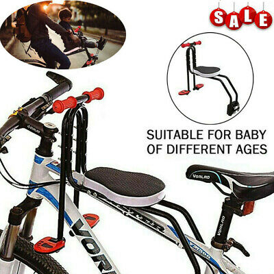 Safety Child Baby Kids Bike Bicycle Cycle Seat Front Carrier With Handrail • 39.49£