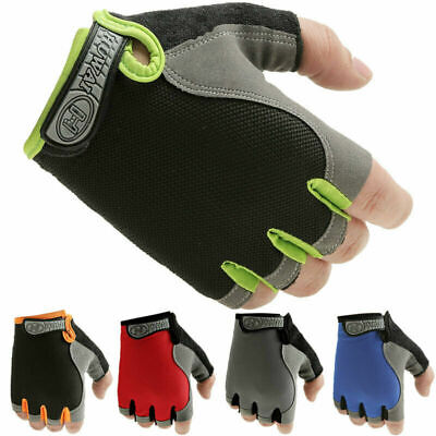 Road Mountain Bike Cycle GEL Half Finger Glove BMX MTB Bicycle Riding Fingerless • 3.68£