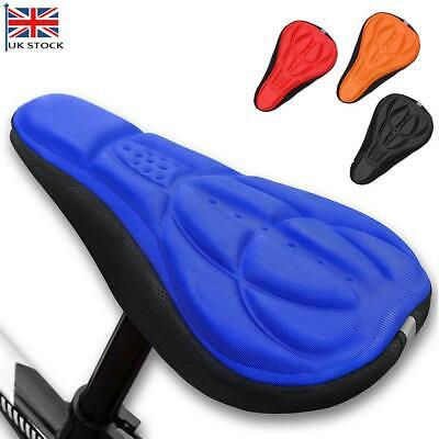 Cycling Bike Bicycle Extra Comfort Silicone Seat Saddle Cover Pad Gel Cushion UK • 1.99£