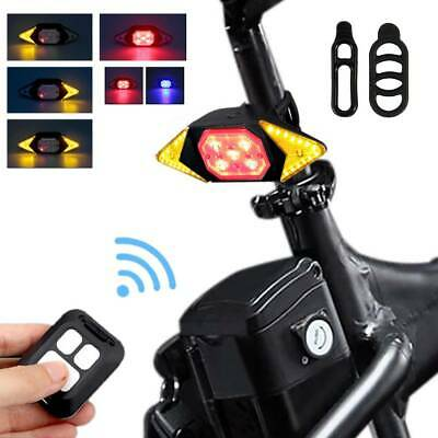Bicycle USB LED Indicator Bike Rear Tail Laser Turn Signal Light Wireless Remote • 10.89£