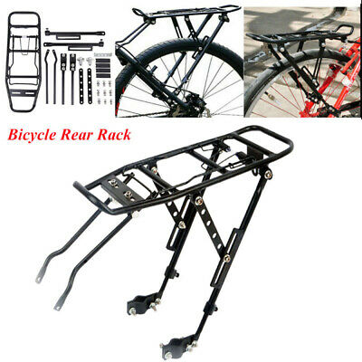 Bicycle Mountain Bike Rear Rack Seat Post Mount Pannier Luggage Carrier Aluminum • 15.79£