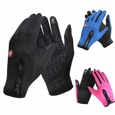 Touch Screen Winter Bike Bicycle Cycling Thermal Warm Gloves BMX MTB - Windproof • 3.28£